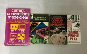 4x Vintage Card Game Books Current Conventions Made Clear Pan Card Games Cohen's