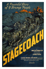 STAGECOACH by John Ford 1939 MOVIE POSTER john wayne 24X36 NEW classic rare