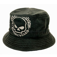 HARLEY DAVIDSON Mens Willie G Skull Bucket Hat Tide Washed Twill Cap (L/XL) HAT