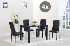 4x Modern Dining Chairs Soft Pad Dining Room Chair Faux Leather Home Furniture