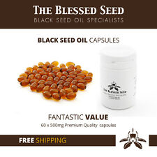 60x Black Seed Oil Capsules [Cold pressed Kalonji Capsules] - The Blessed Seed