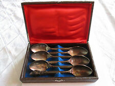 Vintage Silverplated Soviet Melchior Tea Spoons Set Of 6 With Box Marked