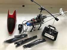 Lutema Lg-Sized 3.5 CH RC Helicopter - Red Power, 2 New Batteries, 6 New Blades