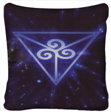 Cushion Pillow Cover Celtic Wiccan Tarot Magical Symbol Purple Polyester