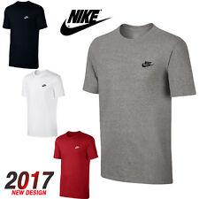 Nike Mens T-Shirt Gym Cotton Sports Crew Jog Jogging Casual Size S M L XL - 2017