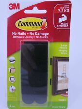 3m Command Picture Hanging Strips Large Black