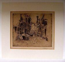 1902 etching, Street scene - Women Sewing ?, Charles Henry White (1878-1918)