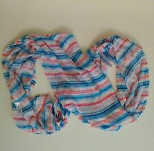 GAP Infinity Scarf Red White Blue Purple Stripe 100% Cotton Soft Summer USA