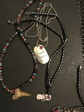 Friends, Tooth , Hematite Lot Of Three Teen Necklace