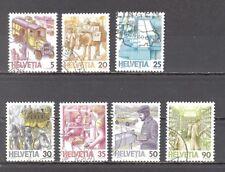 Schweiz, 1986, 1987, Post, Briefzustellung, 7 Briefm., gest.