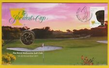 The Presidents Cup - 2011 First Day Cover with $1 coin
