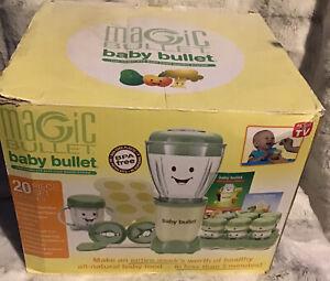 Magic Bullet Baby Bullet Baby Food Maker Kitchen Blender 20-Pc see description