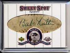 Babe Ruth 2001 Sweet Spot Signatures Classic Signed! Cut Autograph 1/1 Auto !!!