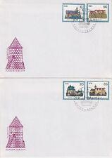 DDR FDC 2910 - 2913 auf 2 FDCs mit SST Berlin Burgen 1984, first day cover