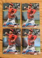 (4) 2018 Topps Chrome Update HMT1 Shohei Ohtani RC Angels Rookie Lot - Qty
