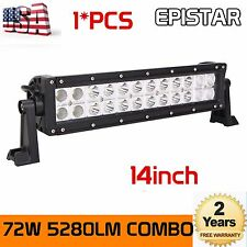 14inch 72W Combo LED Work Light Bar Offroad Jeep SUV ATV UTE Off-road Epistar