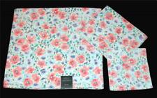 3-Pc Laura Ashley ARIETTA Floral Velour Bath, Hand Towel & Wash Cloth NEW