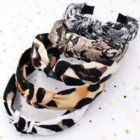 Leopard Hairband Snake Animal Print Knotted Headband Head Hoop Hair Accessories