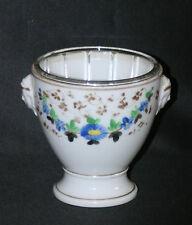 ancien confiturier en porcelaine de vieux Paris peinte et cristal fin XIX ème