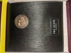 Ted Baker AYTEAM Woodgrain Leather Wallet (BLACK) Plus Ted Baker COIN - RRP £55
