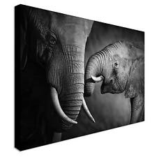 100x75cm LARGE PICTURE Elephants Canvas Print Pictures Wall Art Prints Unframed