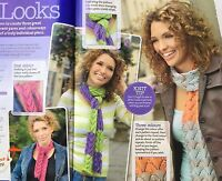 KNITTING PATTERN Ladies Arrow Lace Patterned Scarf 3 Looks Debbie Bliss PATTERN