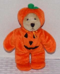"1999 Ganz Wee Bear Village ""Pumpkinhead"" 6"" Bear PH2994 - Excellent Condition"