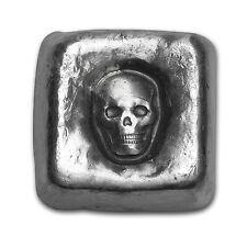 1 oz Silver Cube - Mk Barz & Bullion (Skull) - SKU #105156