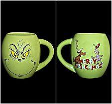 Merry Grinchmas Dr Seuss How The Grinch Stole Christmas Cindy Lou Who Green Mug