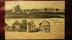 AK Neunkirchen-Saar, Gruss aus, 1904 mit bayrischer Frankatur gelaufen