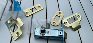 Mortice Door Latch for Internal Doors with Brushed Brass Finish - 45mm