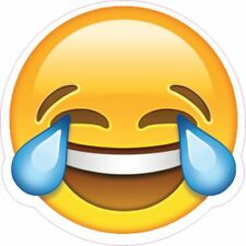 LAUGHING EMOJI TAX DISC STATIC CLING CAR, VAN VEHICLE TAX DISC HOLDER