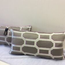 pkt 2 exclusive designer romo cushions dauphine collection velvet/silk rasberry