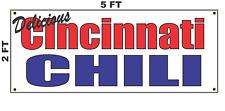 CINCINNATI CHILI Banner Sign for Food Truck Diner Restaurant Convenience Store