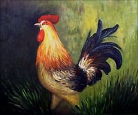 The Rooster, Quality Hand Painted Oil Painting 20x24in