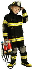 Official Firefighter Toddler Costume w/ Helmet & Axe/ Size 3-4/ Black & Yellow
