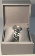 Calvin Klein Womens Stainless Steel Silver Pyramid Studded Watch, K5T33146