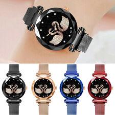 Le donne di lusso orologi quarzo cigno in acciaio inacciaio casual braccialetto