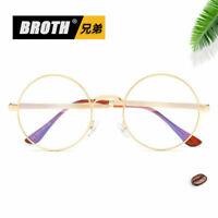 Vintage Metal Round Eyeglass Frame Optical Computer Glasses Spectacles Men Women