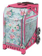 Zuca Bag Blooms Insert & Pink Frame w/Flashing Wheels - Free Seat Cushion