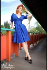Heartbreaker Medium Pinup Mallory Dress In Royal Blue