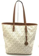 Michael Kors Jet Set Travel North South Signature Vanilla/Brown Large Tote Bag