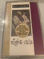JOE COCKER ~ NIGHT CALLS ~ RARE 1992 UK BLUES ROCK AUDIO CASSETTE TAPE ~ CAPITOL