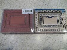 Wood Mounted Rubber Stamp Momenta 3 Pc Mustache Frame Handle Bar The Shag