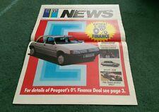 Aug 1987 PEUGEOT TALBOT NEWS inc 309 inc GTi 205 EXPRESS MOTOR HOME UK BROCHURE