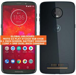 MOTOROLA MOTO Z3 PLAY XT1929 4gb 64gb 12mp Fingerprint Android 8 Lte Smartphone