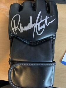 Randy Couture Autographed Century UFC Glove - Beckett Authentic Silver