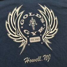 Vtg Gold's Gym Mens T-Shirt sz L Howell New Jersey made USA 90s P26