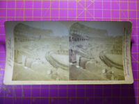 Antique Stereoscope Photograph  Interior of Colosseum, Rome, Italy - Stereoview