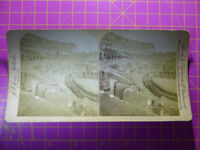 Antique Stereoscope Photograph - Interior of Colosseum, Rome, Italy - Stereoview